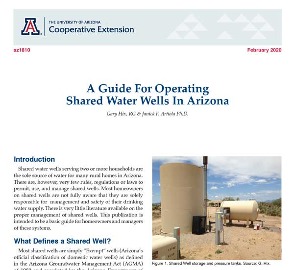 AZ1810 Shared Water Wells in AZ